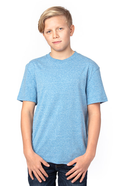 Threadfast Apparel 602A Youth Short Sleeve Crewneck T-Shirt Royal Blue Front