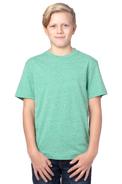 Threadfast Apparel 602A Youth Short Sleeve Crewneck T-Shirt Green Front