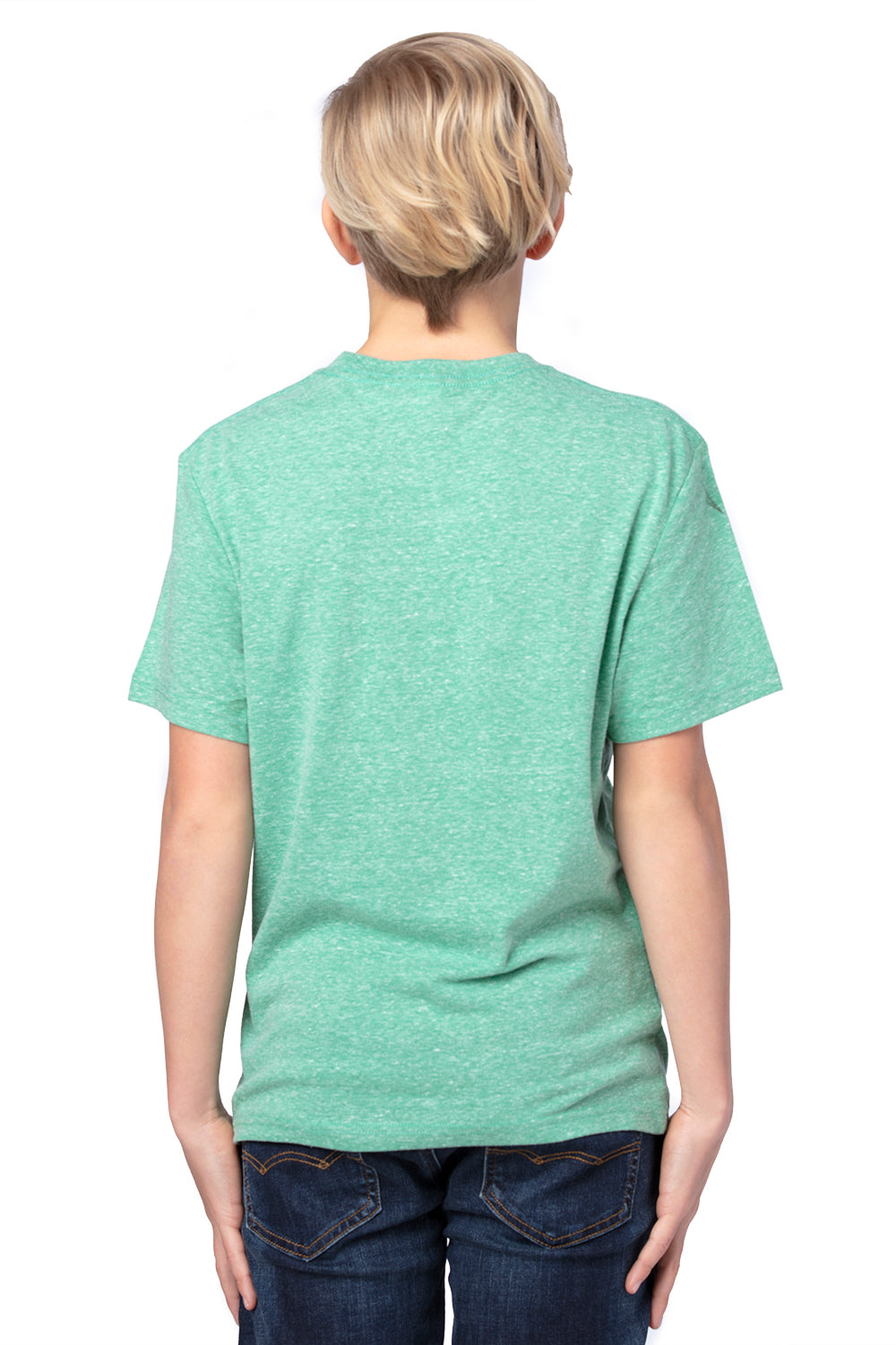 Threadfast Apparel 602A Youth Short Sleeve Crewneck T-Shirt Green Back