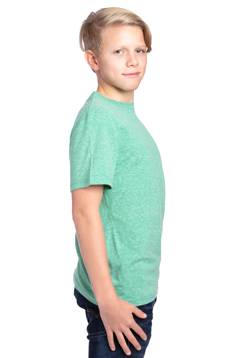 Threadfast Apparel 602A Youth Short Sleeve Crewneck T-Shirt Green Side