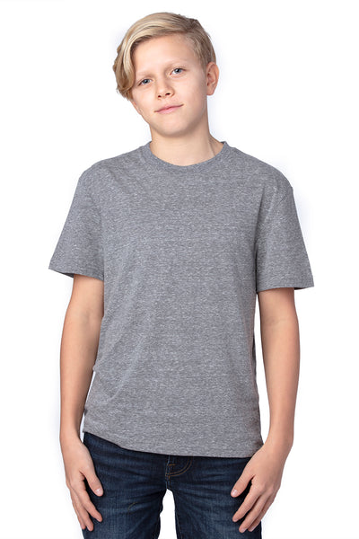 Threadfast Apparel 602A Youth Short Sleeve Crewneck T-Shirt Grey Front