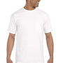 Comfort Colors Mens Short Sleeve Crewneck T-Shirt w/ Pocket - White