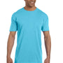 Comfort Colors Mens Short Sleeve Crewneck T-Shirt w/ Pocket - Lagoon Blue