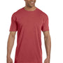 Comfort Colors Mens Short Sleeve Crewneck T-Shirt w/ Pocket - Crimson Red