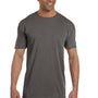 Comfort Colors Mens Short Sleeve Crewneck T-Shirt w/ Pocket - Pepper Grey