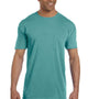 Comfort Colors Mens Short Sleeve Crewneck T-Shirt w/ Pocket - Seafoam Green