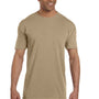 Comfort Colors Mens Short Sleeve Crewneck T-Shirt w/ Pocket - Khaki