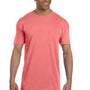 Comfort Colors Mens Short Sleeve Crewneck T-Shirt w/ Pocket - Watermelon Pink