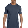 Comfort Colors Mens Short Sleeve Crewneck T-Shirt w/ Pocket - Denim Blue