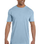 Comfort Colors Mens Short Sleeve Crewneck T-Shirt w/ Pocket - Ice Blue