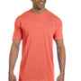 Comfort Colors Mens Short Sleeve Crewneck T-Shirt w/ Pocket - Bright Salmon