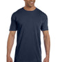 Comfort Colors Mens Short Sleeve Crewneck T-Shirt w/ Pocket - True Navy Blue