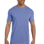 Comfort Colors Mens Short Sleeve Crewneck T-Shirt w/ Pocket - Flo Blue
