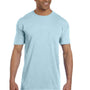 Comfort Colors Mens Short Sleeve Crewneck T-Shirt w/ Pocket - Chambray Blue