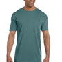 Comfort Colors Mens Short Sleeve Crewneck T-Shirt w/ Pocket - Blue Spruce