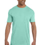 Comfort Colors Mens Short Sleeve Crewneck T-Shirt w/ Pocket - Island Reef Green