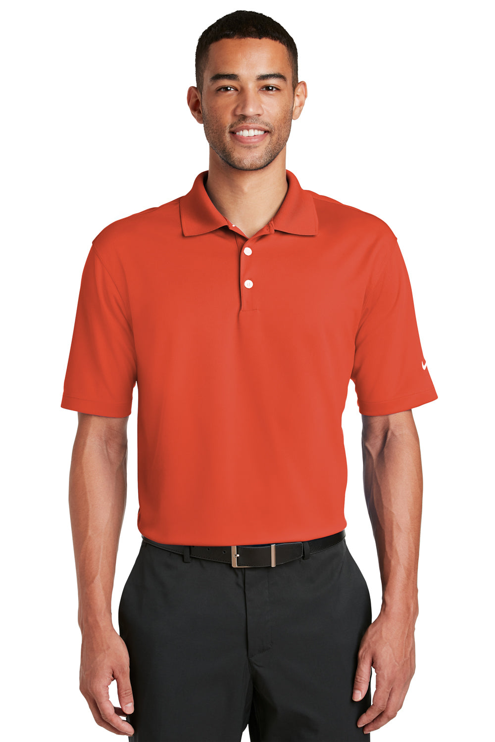 Nike Mens Dri-Fit Moisture Wicking Short Sleeve Polo Shirt - Team Orange