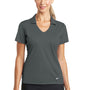 Nike Womens Dri-Fit Moisture Wicking Short Sleeve Polo Shirt - Anthracite Grey