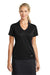 Nike 637165 Womens Dri-Fit Moisture Wicking Short Sleeve Polo Shirt Black Front