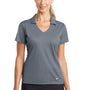 Nike Womens Dri-Fit Moisture Wicking Short Sleeve Polo Shirt - Cool Grey