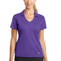 Nike Womens Dri-Fit Moisture Wicking Short Sleeve Polo Shirt - Court Purple