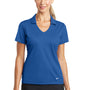 Nike Womens Dri-Fit Moisture Wicking Short Sleeve Polo Shirt - Gym Blue