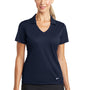 Nike Womens Dri-Fit Moisture Wicking Short Sleeve Polo Shirt - Marine Blue