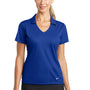 Nike Womens Dri-Fit Moisture Wicking Short Sleeve Polo Shirt - Royal Blue