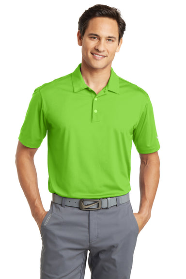 Nike 637167 Mens Dri-Fit Moisture Wicking Short Sleeve Polo Shirt Action Green Front