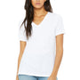 Bella + Canvas Womens Relaxed Jersey Short Sleeve V-Neck T-Shirt - White
