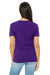 Bella + Canvas 6405 Womens Relaxed Jersey Short Sleeve V-Neck T-Shirt Purple Back