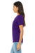 Bella + Canvas 6405 Womens Relaxed Jersey Short Sleeve V-Neck T-Shirt Purple Side