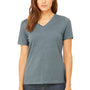 Bella + Canvas Womens Relaxed Jersey Short Sleeve V-Neck T-Shirt - Heather Slate Blue