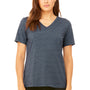 Bella + Canvas Womens Relaxed Jersey Short Sleeve V-Neck T-Shirt - Heather Navy Blue