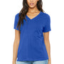 Bella + Canvas Womens Relaxed Jersey Short Sleeve V-Neck T-Shirt - True Royal Blue