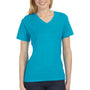 Bella + Canvas Womens Relaxed Jersey Short Sleeve V-Neck T-Shirt - Turquoise Blue