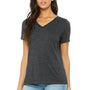 Bella + Canvas Womens Relaxed Jersey Short Sleeve V-Neck T-Shirt - Heather Dark Grey