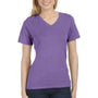 Bella + Canvas Womens Relaxed Jersey Short Sleeve V-Neck T-Shirt - Purple Triblend