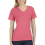 Bella + Canvas Womens Relaxed Jersey Short Sleeve V-Neck T-Shirt - Red Triblend