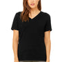 Bella + Canvas Womens Relaxed Jersey Short Sleeve V-Neck T-Shirt - Heather Black