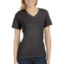 Bella + Canvas Womens Relaxed Jersey Short Sleeve V-Neck T-Shirt - Charcoal Black Triblend