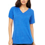 Bella + Canvas Womens Relaxed Jersey Short Sleeve V-Neck T-Shirt - True Royal Blue Triblend