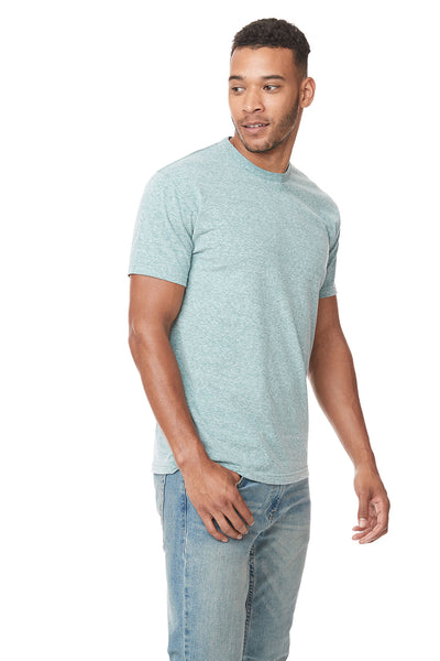 Next Level 6407 Mens Sueded Short Sleeve Crewneck T-Shirt Heather Green Side