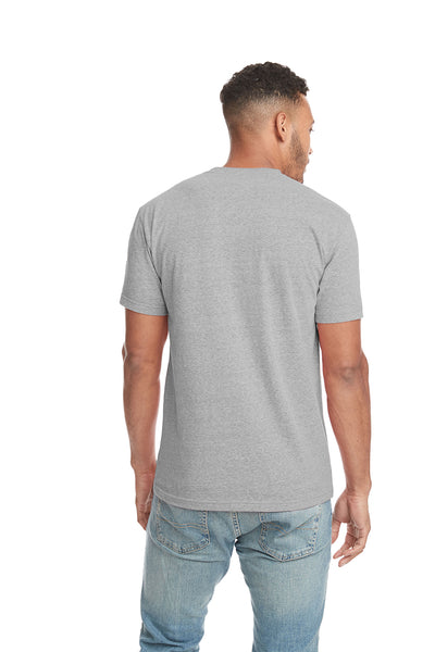 Next Level 6407 Mens Sueded Short Sleeve Crewneck T-Shirt Heather Grey Back