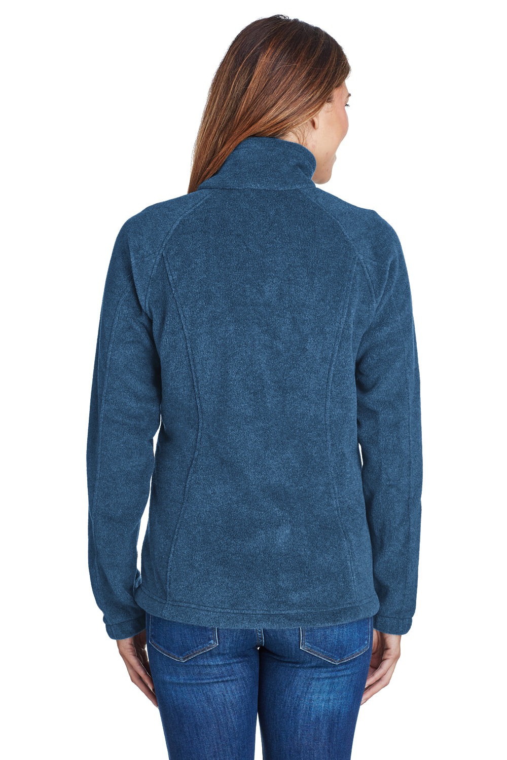 Columbia 6439 Womens Benton Springs Full Zip Fleece Jacket Navy Blue Back