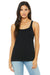 Bella + Canvas 6488 Womens Relaxed Jersey Tank Top Black Front