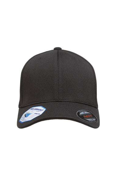 Flexfit 6597 Mens Cool & Dry Moisture Wicking Stretch Fit Hat Black Front