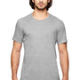 Anvil Mens Heather Grey Short Sleeve Crewneck T-Shirt