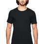 Anvil Mens Black Short Sleeve Crewneck T-Shirt