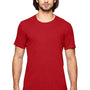 Anvil Mens Heather Red Short Sleeve Crewneck T-Shirt